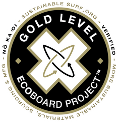 ECOBOARD Gold Level Verified by SustainableSurf.org