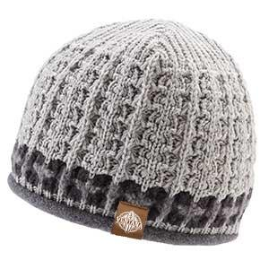 Ventana Pattern One Knit Wool Beanie