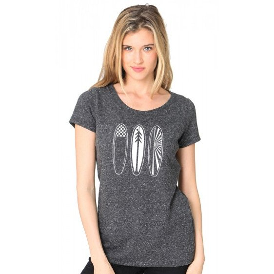 Shirts - Ventana Surfboards Recycled & Organic Scoop Neck T-Shirt