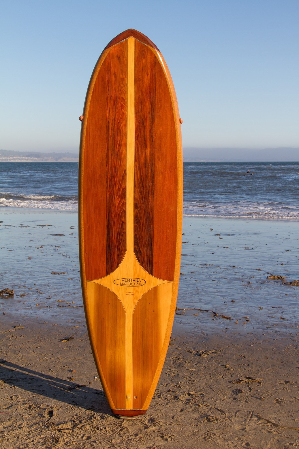"Surfboard - 6'6"" Redwood Cedar Down Rail"