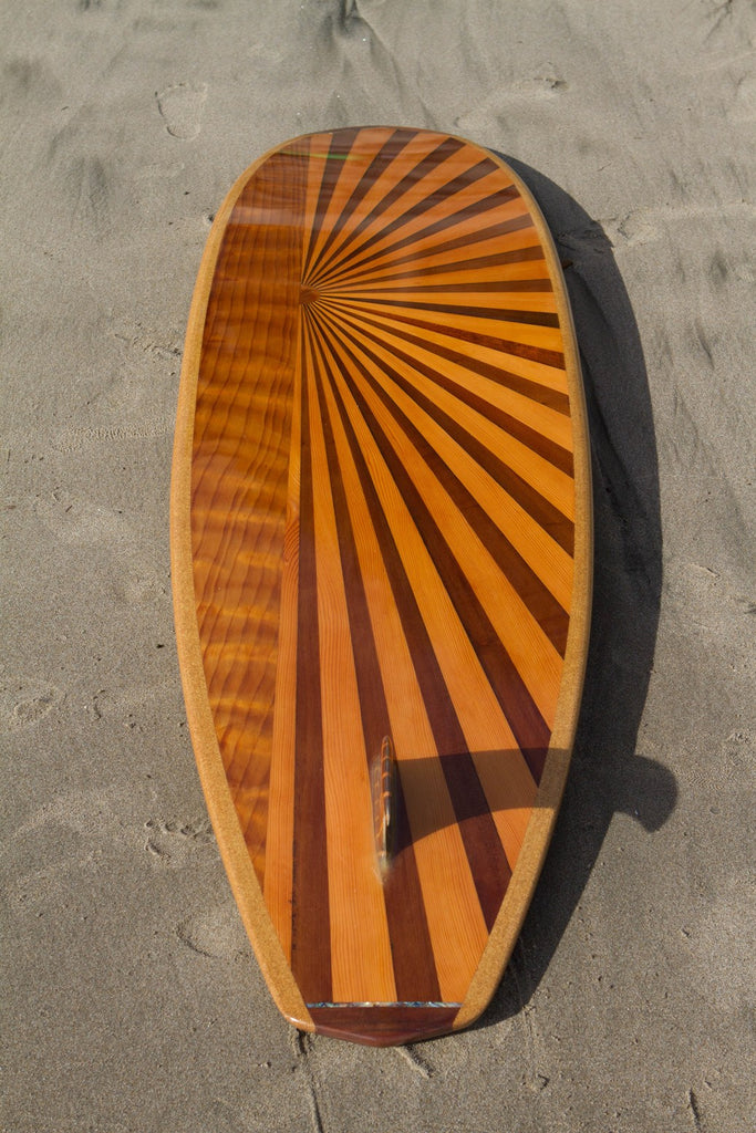"Surfboard - 6'6"" Sunburst Down Rail"