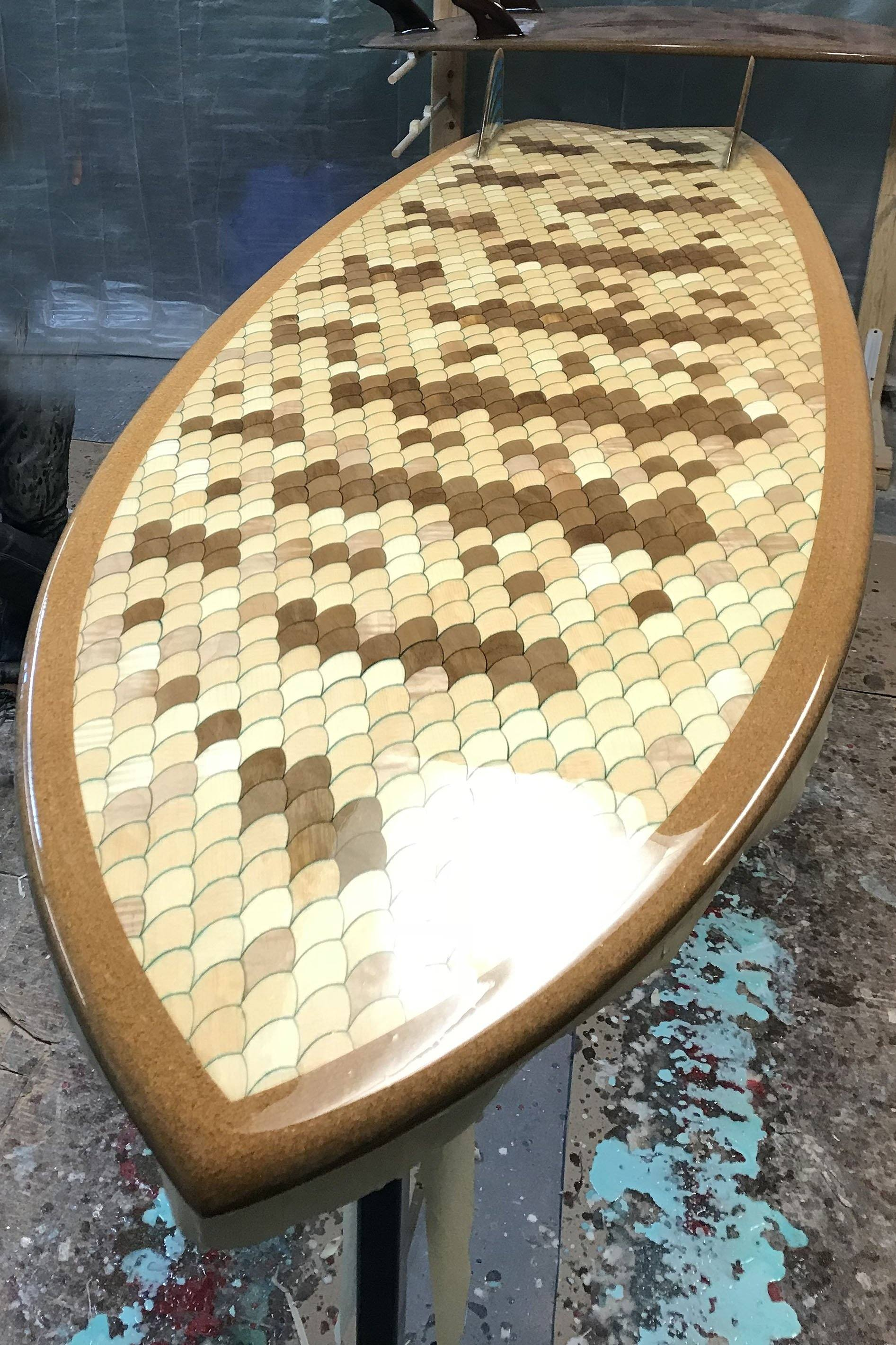 "Surfboard - Barred Surfperch 5'10"" - Board Number 100"