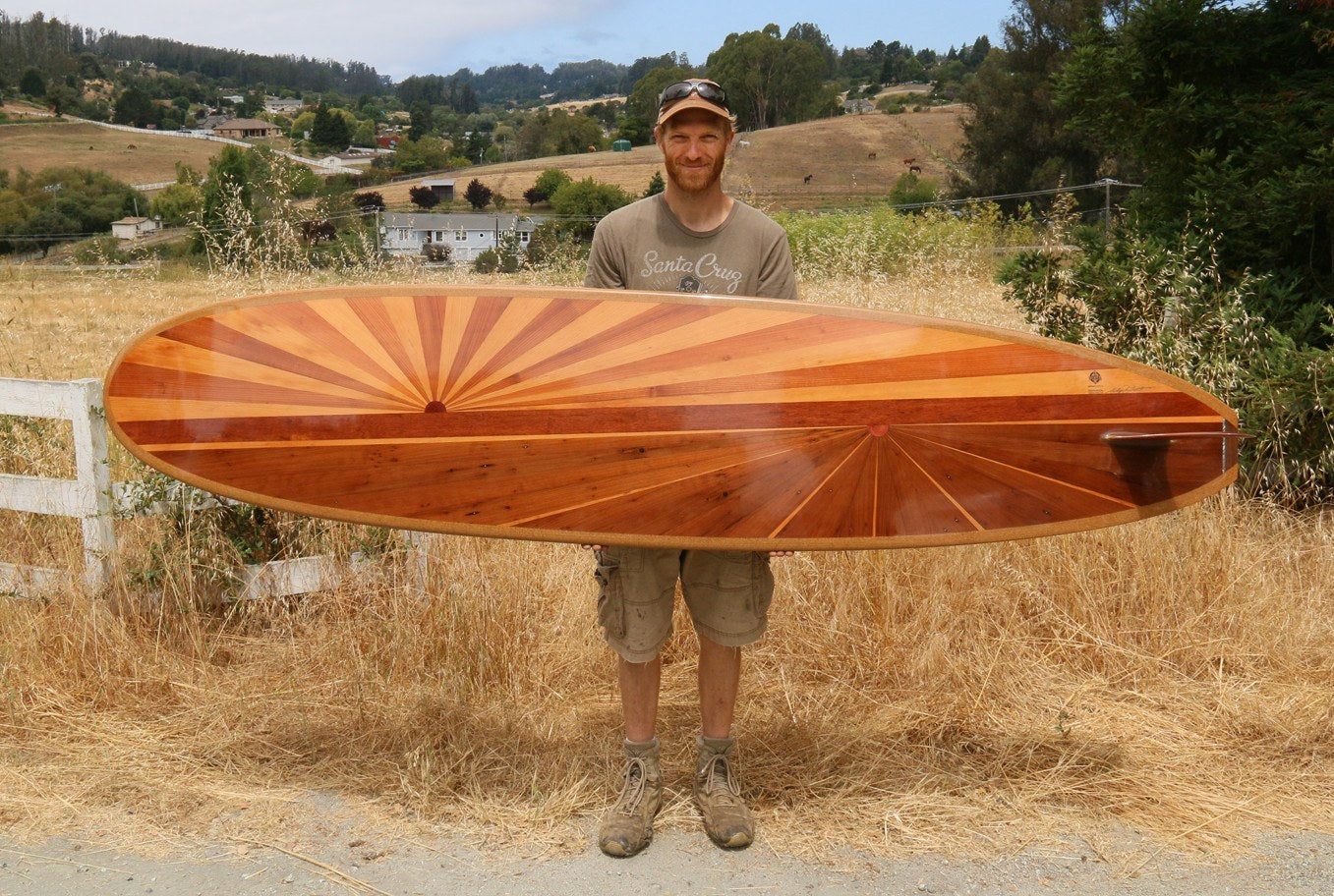 Surfboard - Bursting Sun Moon 9' Longboard