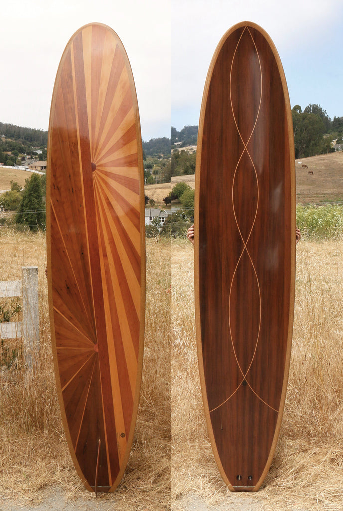 Surfboard - Bursting Sun Moon Longboard 9'0""