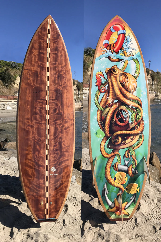 Surfboard - Custom Tattoo Design Grom 4'10""