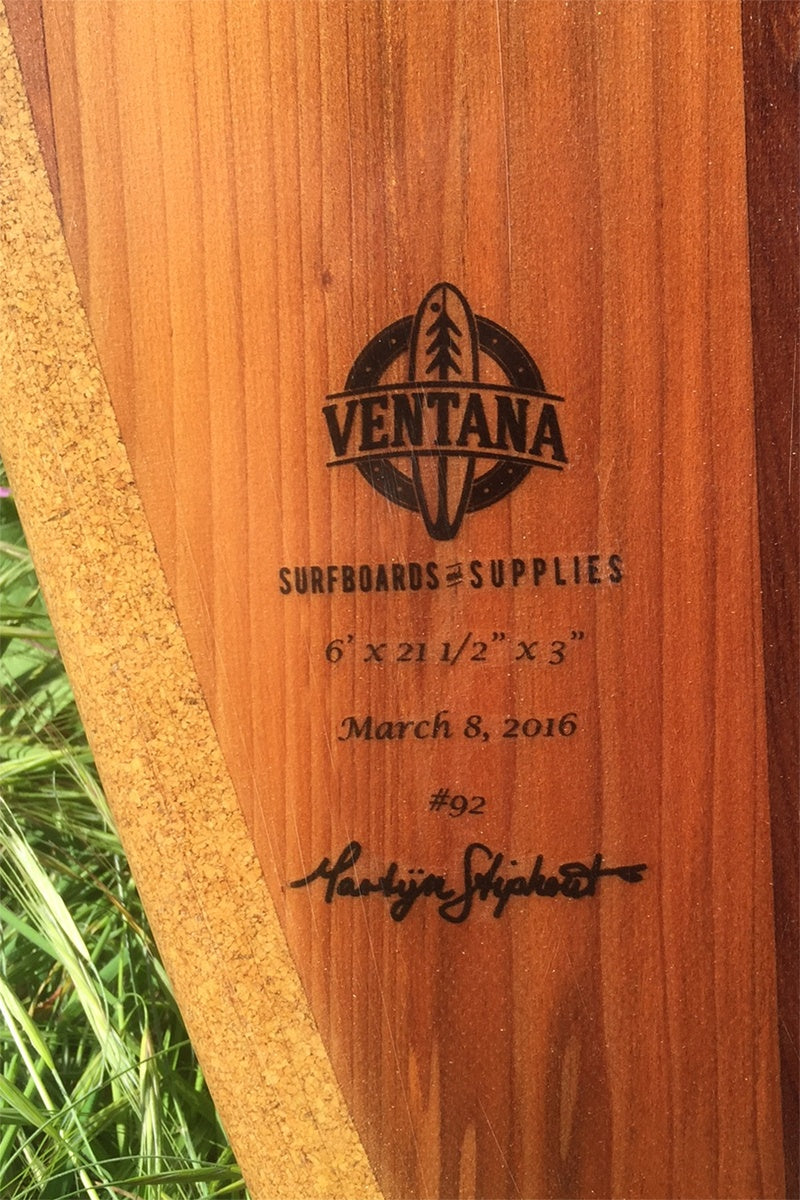 "Surfboard - Redwood 6'0"" Hull"