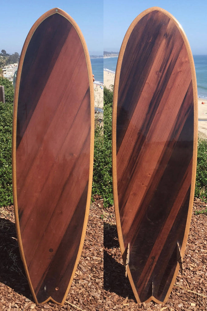 Surfboard - Redwood Hot Tub Swallow Tail 6'6""