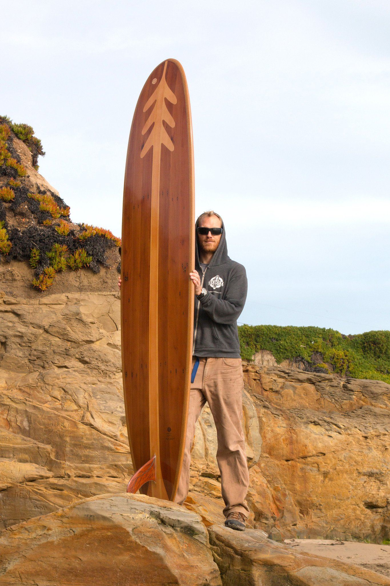 Surfboard - Redwood Treefish Longboard 9'0""