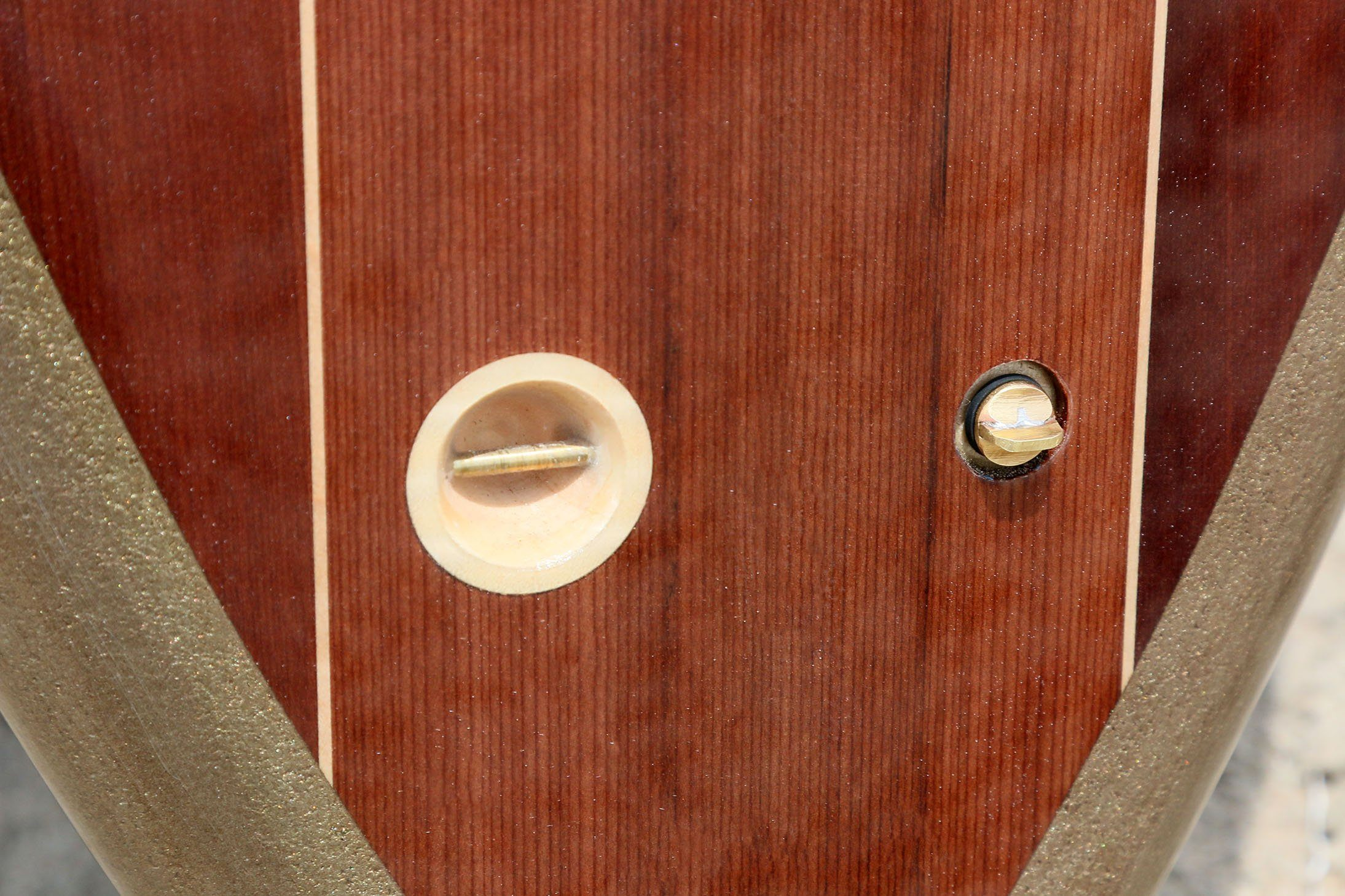 Vent plug on a Ventana surfboard