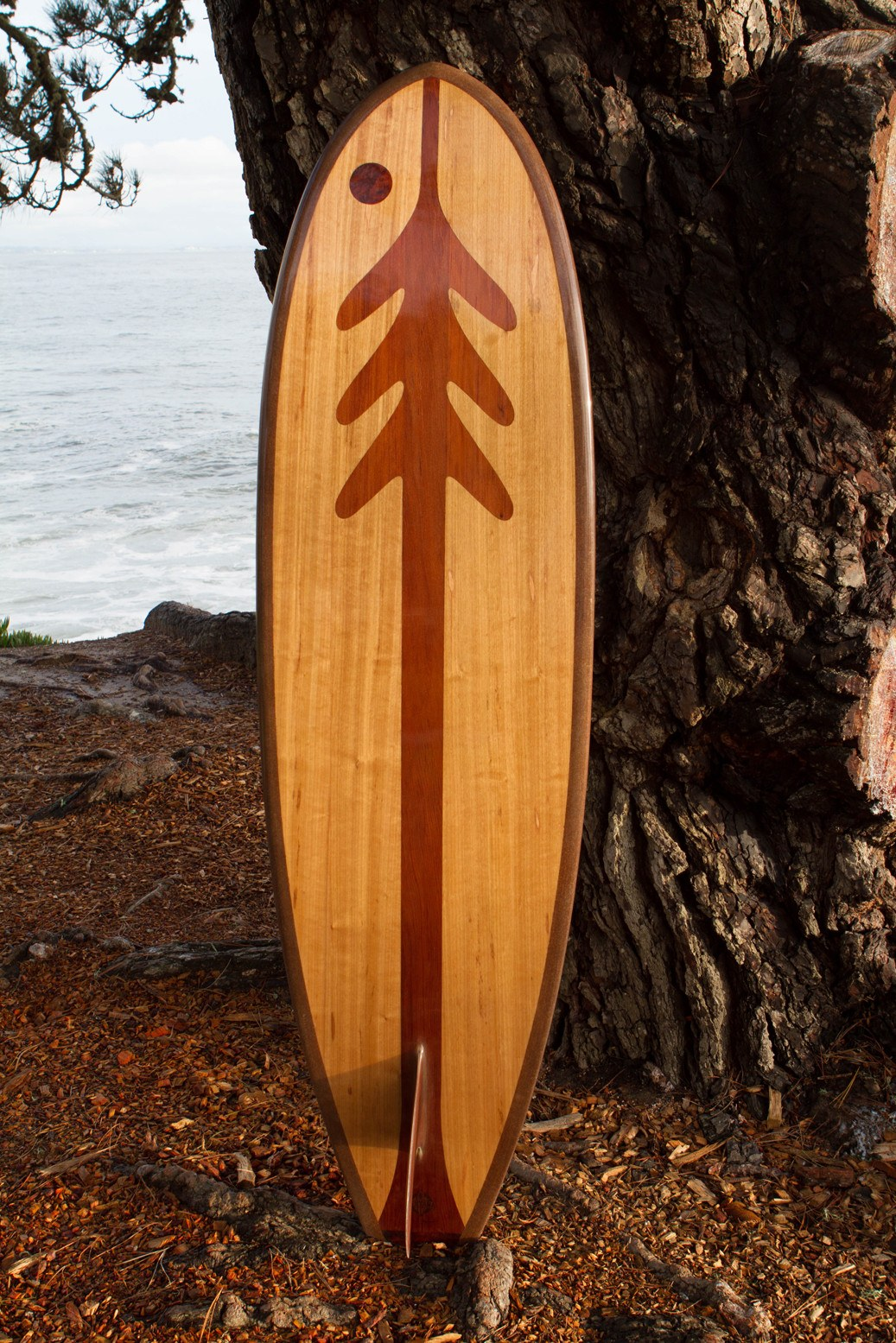 "Surfboard - Ventana Treefish Logo 6' 6"" Down Rail"