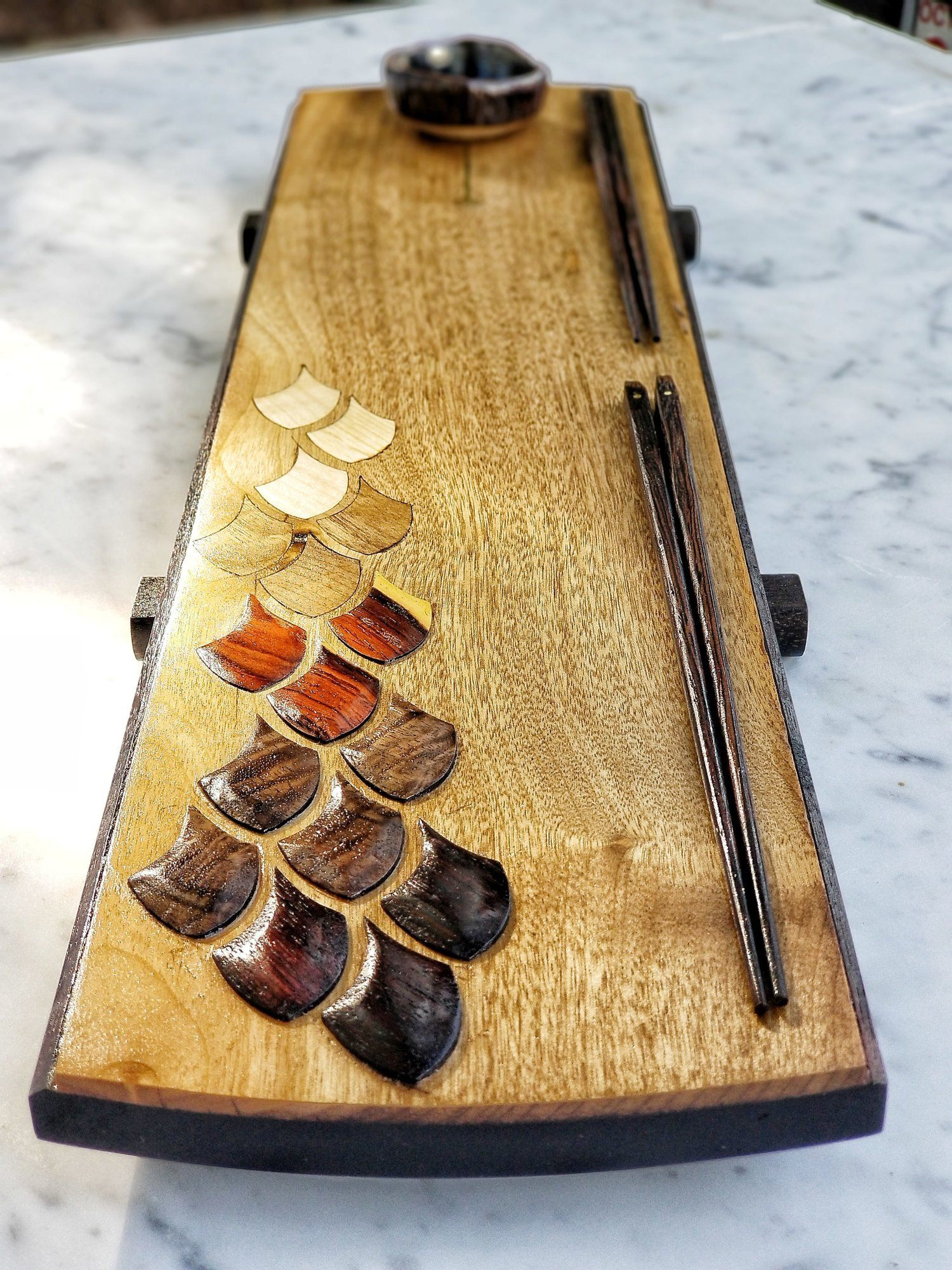 Sushi Board - Fish Scale Sushi Board
