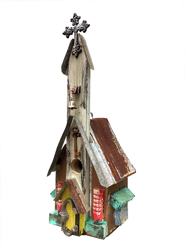 Handmade Church Birdhouse