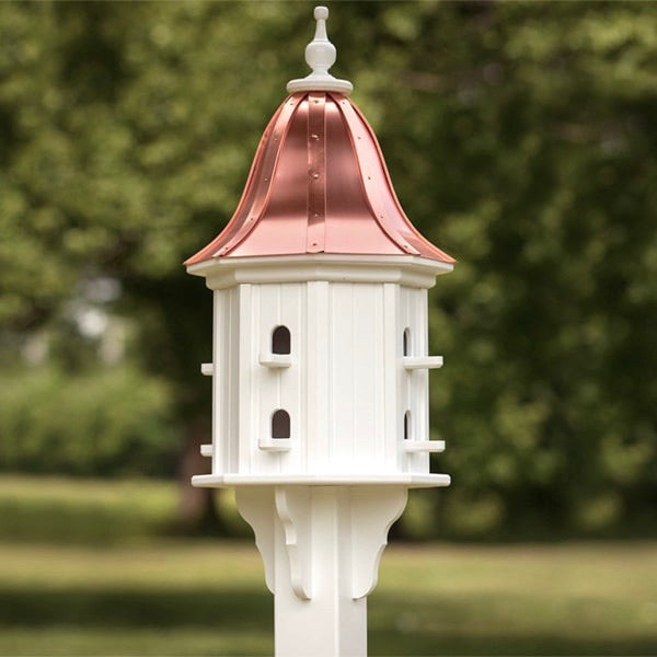 Dovecote Birdhouse with Copper Roof