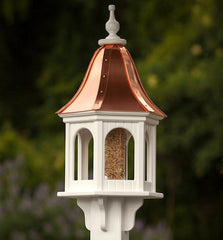 Copper Roof Bird Feeders