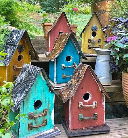Church Birdhouses Vintage & Rustic