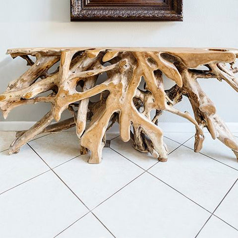 Teak Root Console Tables- Home and Garden Furnishings