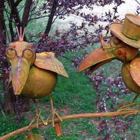 Two Old Crows Kinetic Garden Art