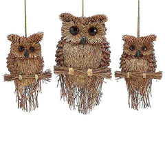 Handcrafted Pine Cone Owls Wall Decor