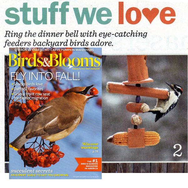 Birdhouses featured in Birds and Bloom magazine