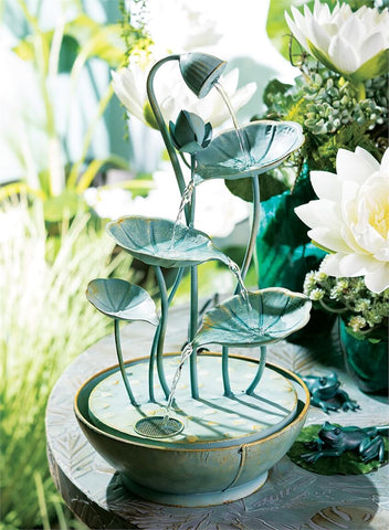 Lily Pad Cascading Fountain