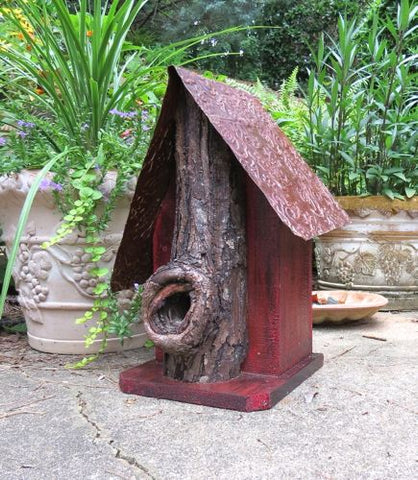 Rustic Log Birdhouse