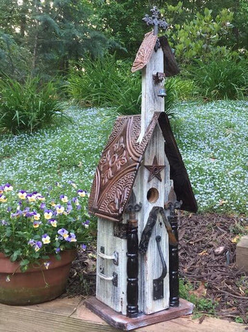 Rustic Church Birdhouses