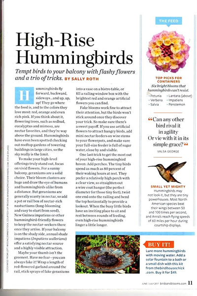 The Birdhouse Chick Featured in Birds and Blooms Spring 2017