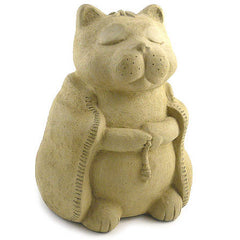 Zen Cat Stone Sculpture
