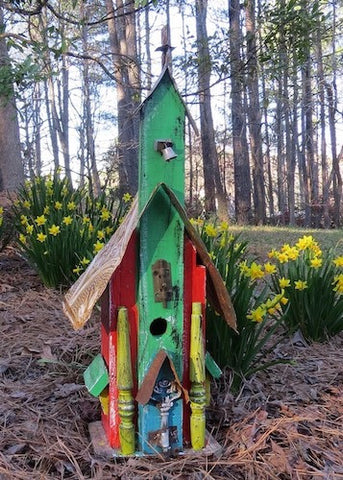 Rustic Reclaimed Church Birdhouse for Mom