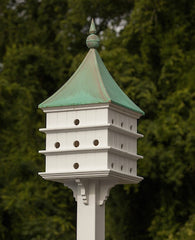 Copper Roof Martin Birdhouse with 24 Units