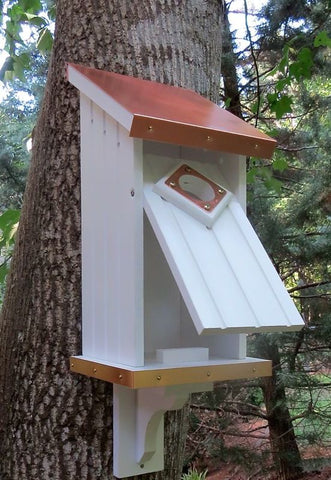 Vinyl Bluebird House with Copper Roof