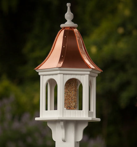 Copper-Vinyl Gazebo Bird Feeder