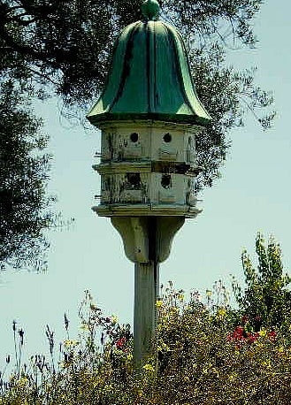 Dovecote Birdhouse with Rotted Wood
