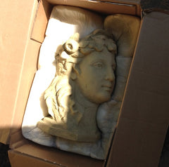 Stone Lady Head Planter