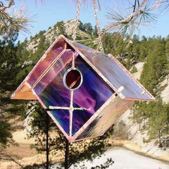 Stained Glass and Copper Birdhouse