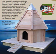 Heartwood AquaDuck-Floating Duck House in Solid Cypress