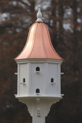Copper Roof Purple Martin Birdhouse in Vinyl/PVC-12 Entries