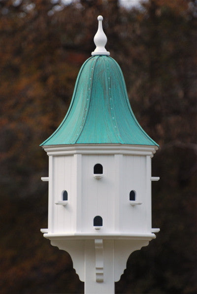 Copper Roof Purple Martin Birdhouse in Vinyl/PVC 54x22, 12 Nest