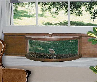 Panoramic Window Feeder with Mirror