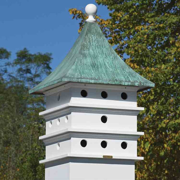 Purple martin house cupola copper vinyl the birdhouse chick for Pictures of houses with cupolas