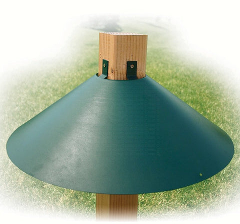 22-Inch Post-Mount Squirrel Baffle 4x4 Post