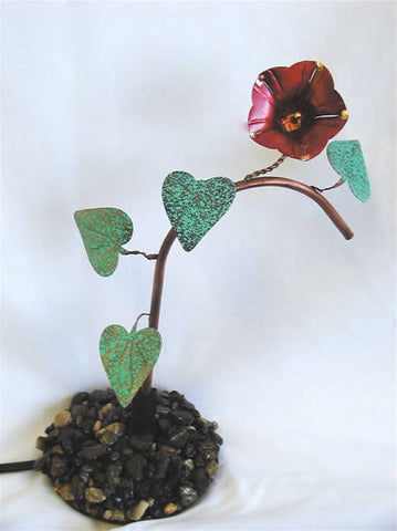 Ivy Leaf Copper Dripper-Pebble Base