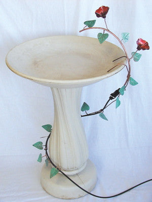 Ivy Leaf Copper Bird Bath Dripper