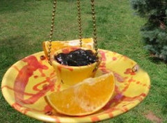 Stoneware Butterfly Feeder is perfect for fruit & jelly too