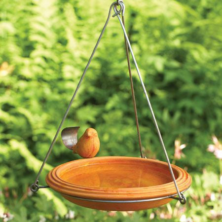 Ceramic Hanging Bird Bath-Spice