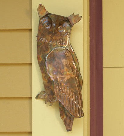 Flamed Owl Wall Decor