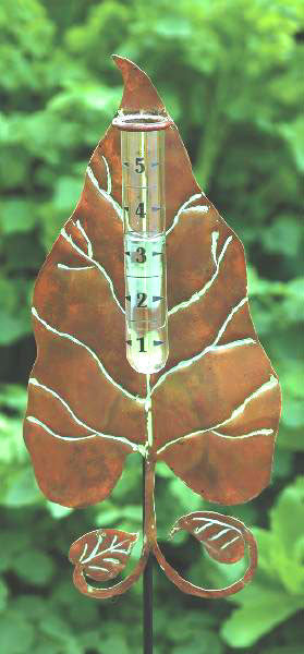 Handcrafted Leaf Rain Gauge
