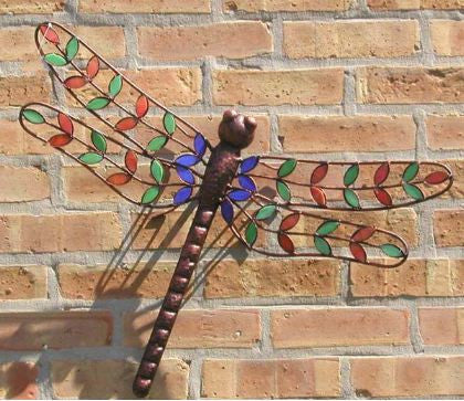 Stained Glass Dragonfly Wall Art