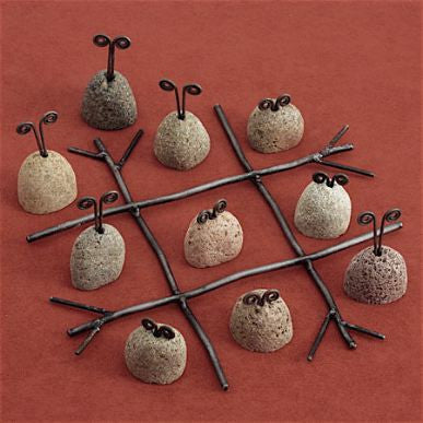 Hand Forged Tic Tac Toe Gift Set