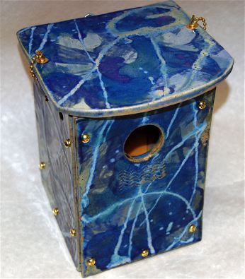Orchard Nest Box in Hand Crafted Stoneware-Cobalt